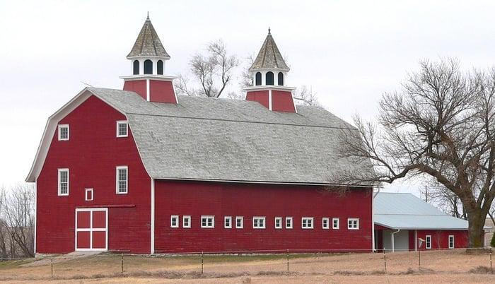 A barn in Nebraska.