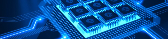 An abstract image of Broadcom chips