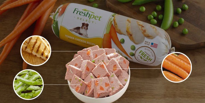 A collection of Freshpet products