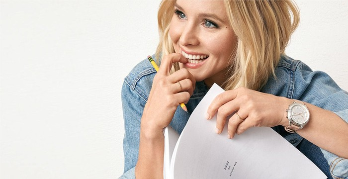 A Fossil ad featuring actress Kristen Bell.