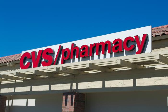 The exterior of a CVS store.