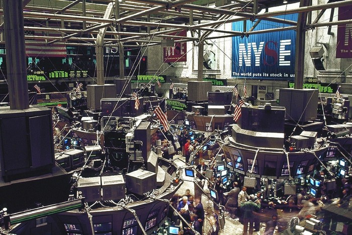 The NYSE stock trading floor