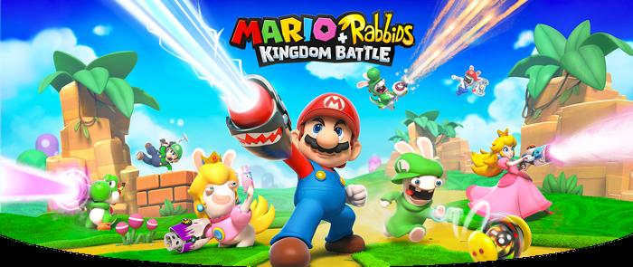 "Mario and Rabbids characters in ""Mario+Rabbids: Kingdom Battle."""