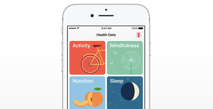 Different sections of Apple's Health app