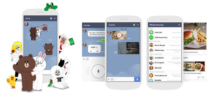 Line's mobile app.