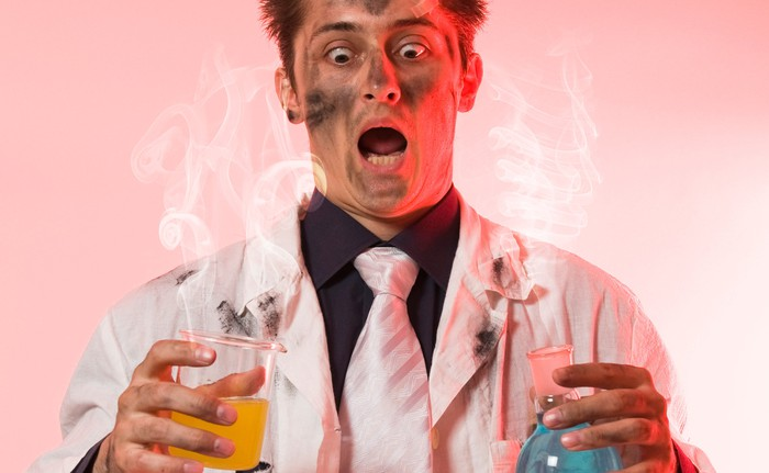 Biotech scientist after something went terribly wrong.
