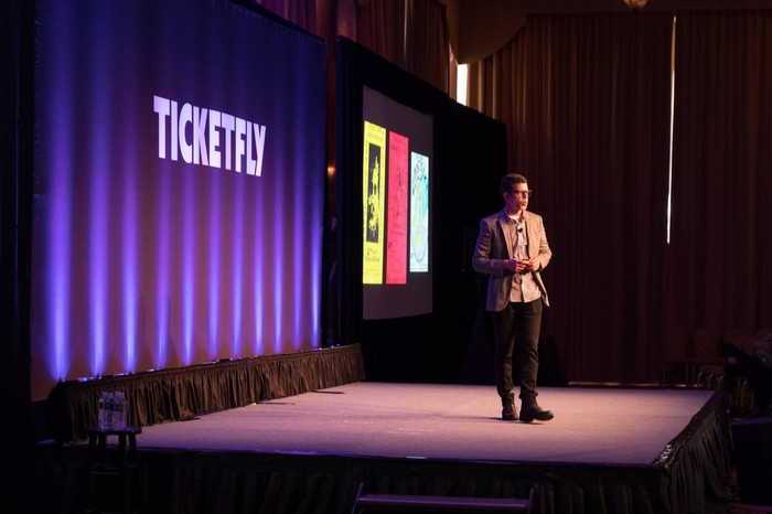 Andrew Dreskin, Ticketfly co-founder & CEO presenting at FlyCon 2017