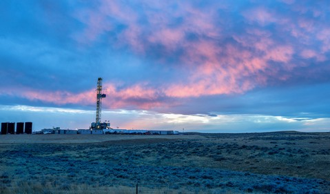 Drill Rig on the Prairie