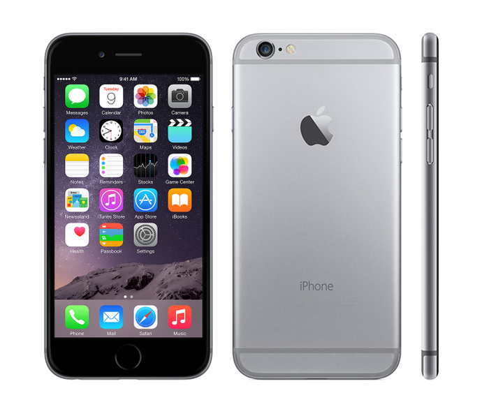 iPhone 6 front, back, and profile