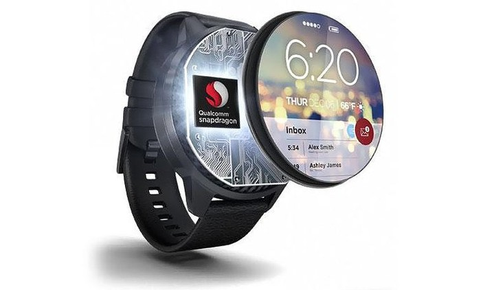 Qualcomm's Snapdragon Wear chipset for smartwatches.