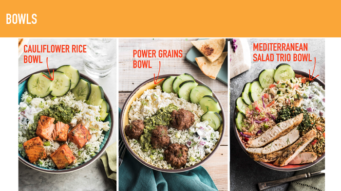 The three new bowl offerings from Zoe's Kitchen