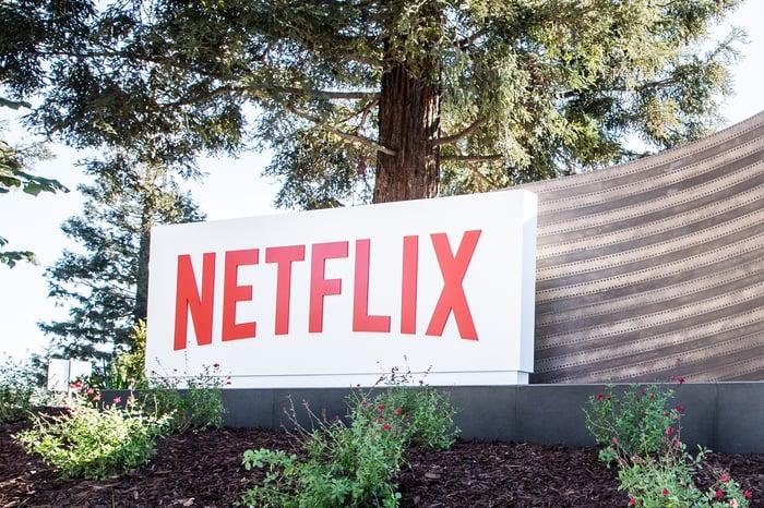 Exterior of Netflix headquarters in Los Gatos