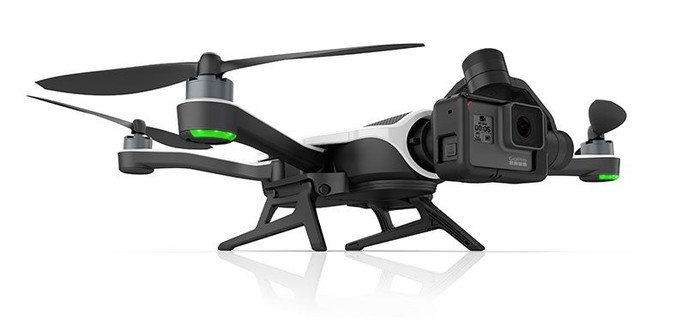 Karma drone with a camera on the front.