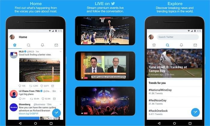 Twitter's mobile app.