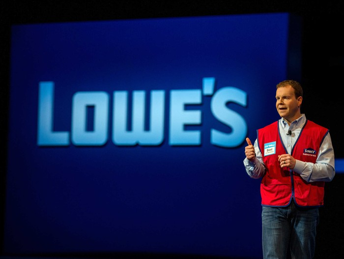 Lowe's employee speaking