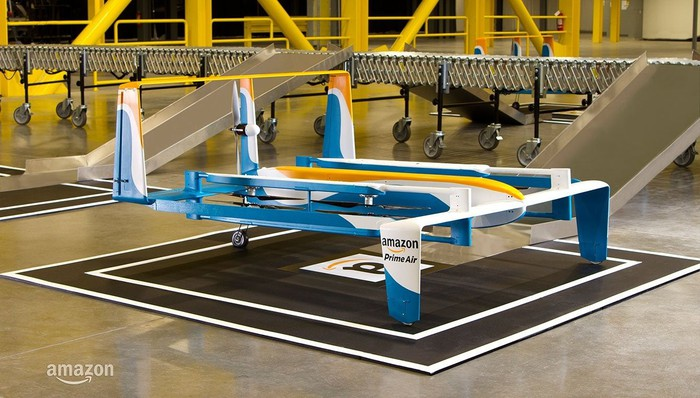 An Amazon.com delivery drone