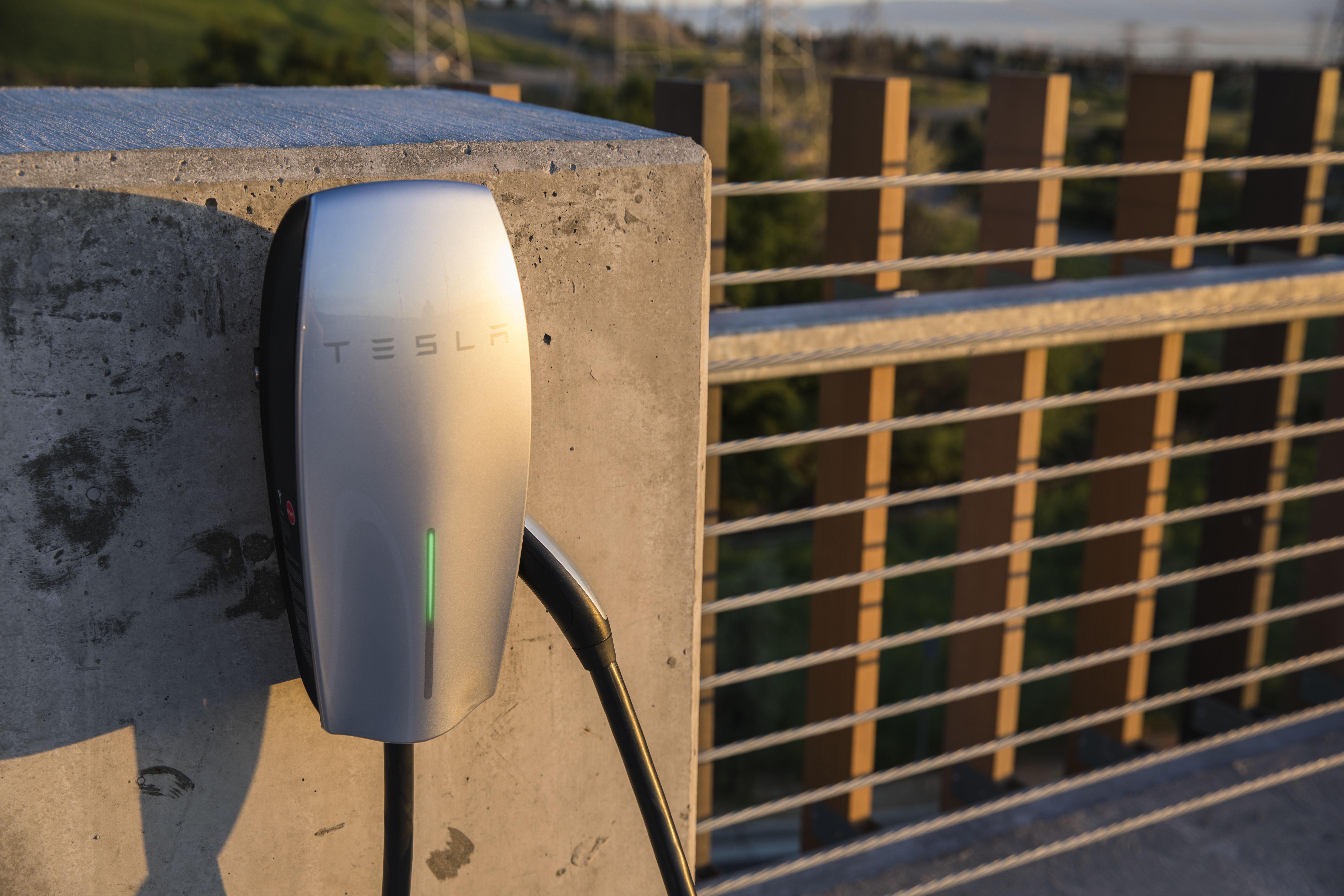 A Tesla destination charger