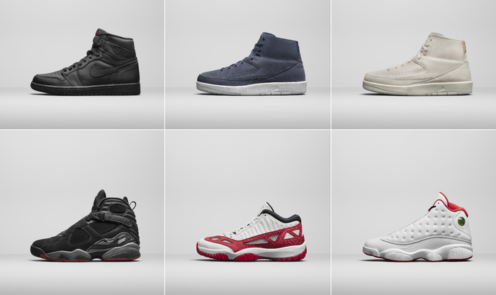 Six different Nike shoes
