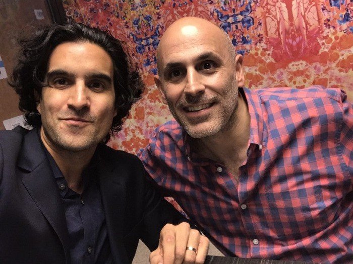 Wal-Mart e-commerce chief Marc Lore (right) pictured with Bonobos CEO Andy Dunn