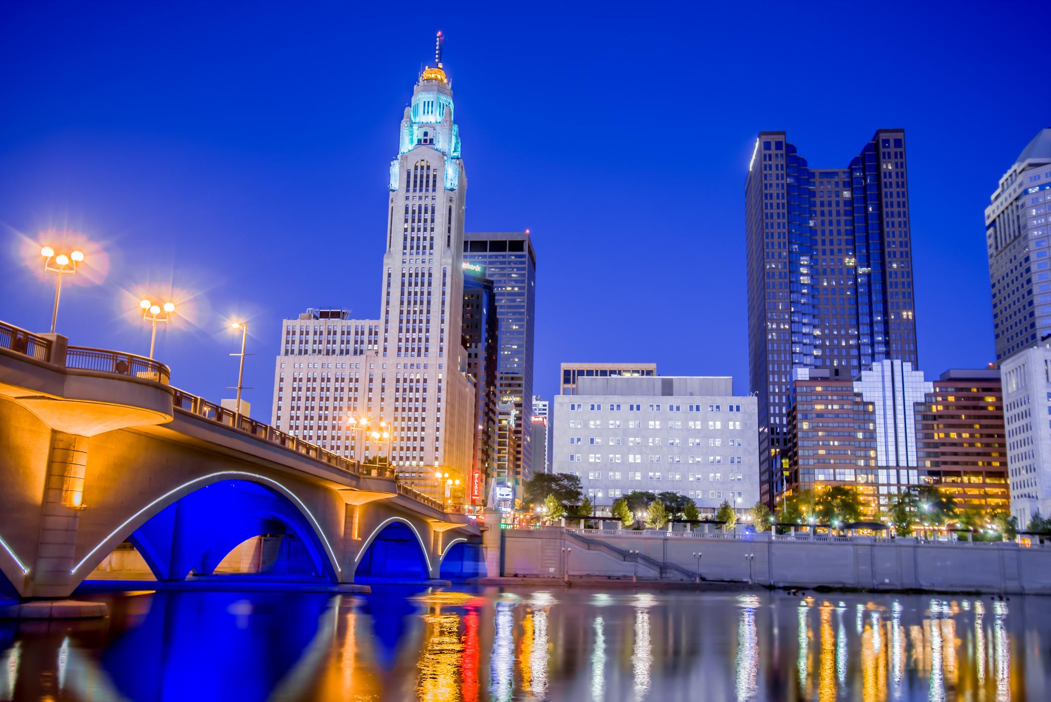 Downtown Columbus, Ohio.