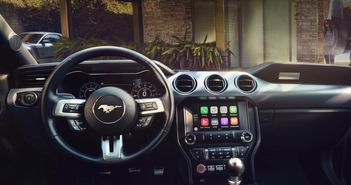 Ford's Sync 3 infotainment system in a Mustang.