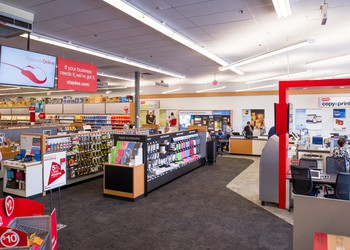 Inside of a Staples store