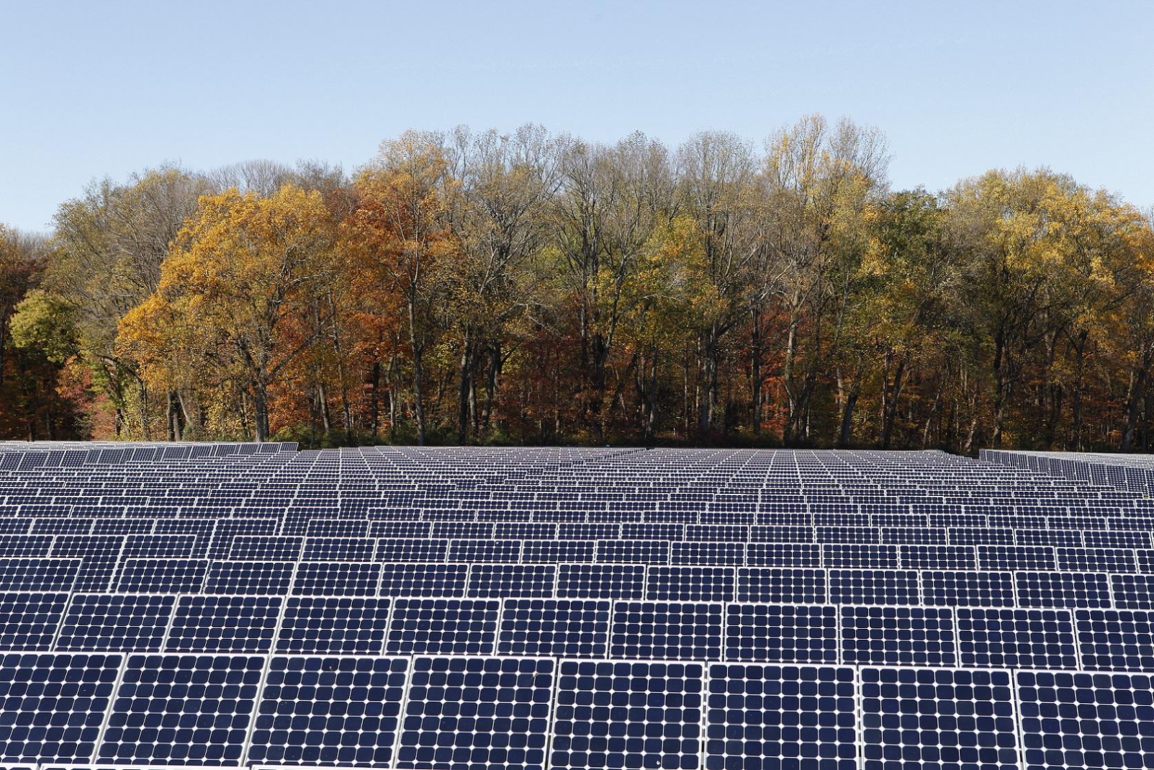 SunPower utility scale solar installation.