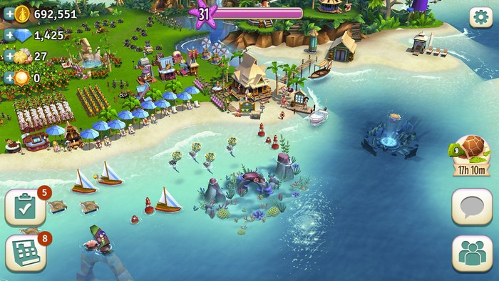 Farmville: Tropic Escape.