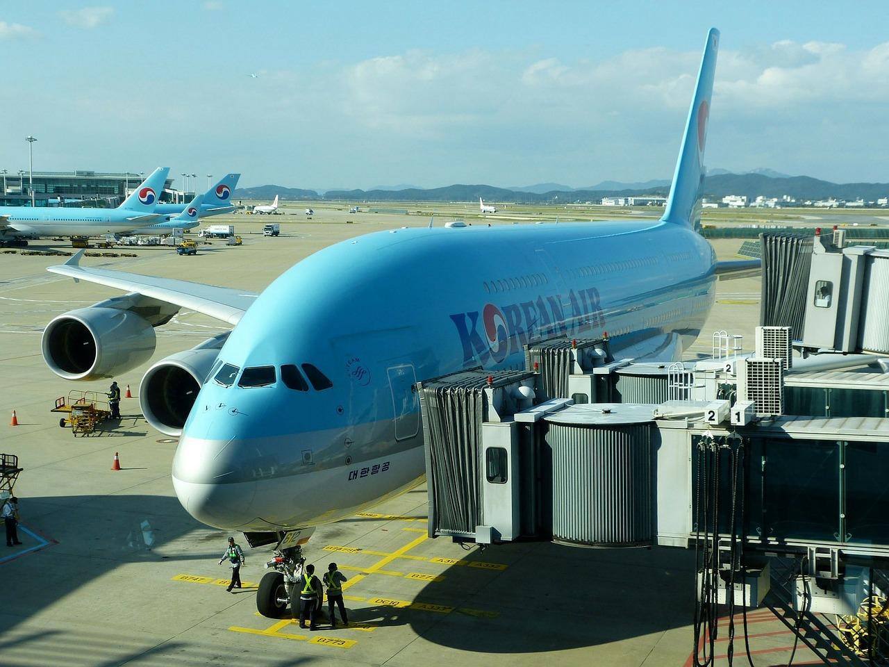 Korean Air planes on the tarmac