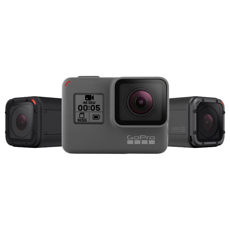 GoPro's Hero lineup of cameras.