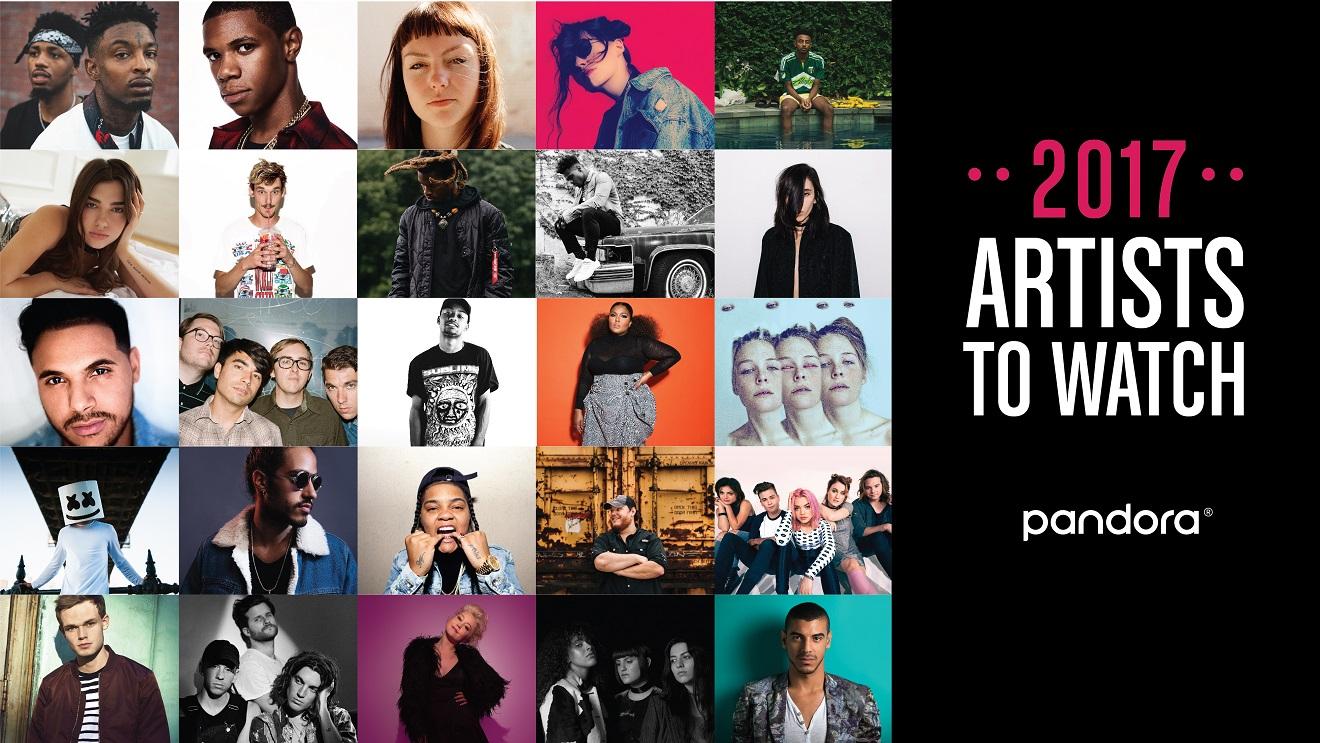 Pandora artists to watch.