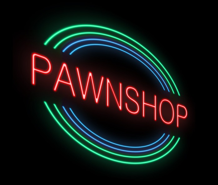 Pawn shop sign.