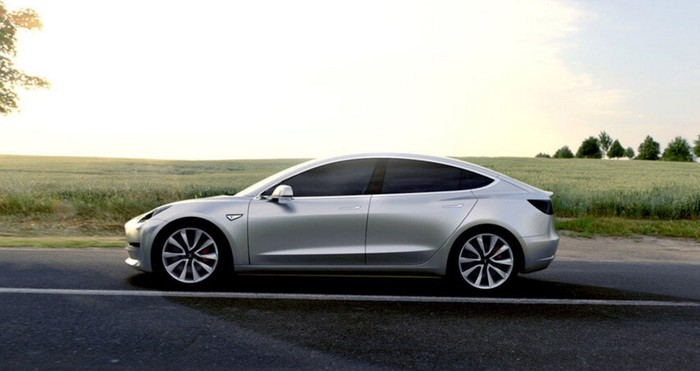 View of a Model 3 from exterior.