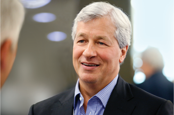 Jamie Dimon, Chairman and CEO of JPMorgan Chase, having a conversation.
