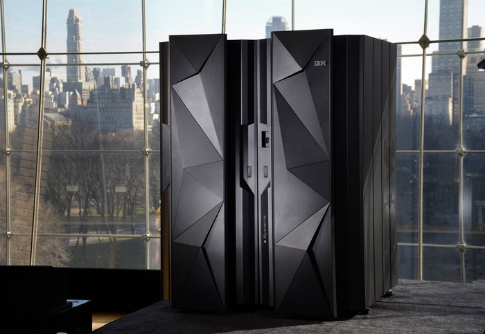 The IBM z13 mainframe.