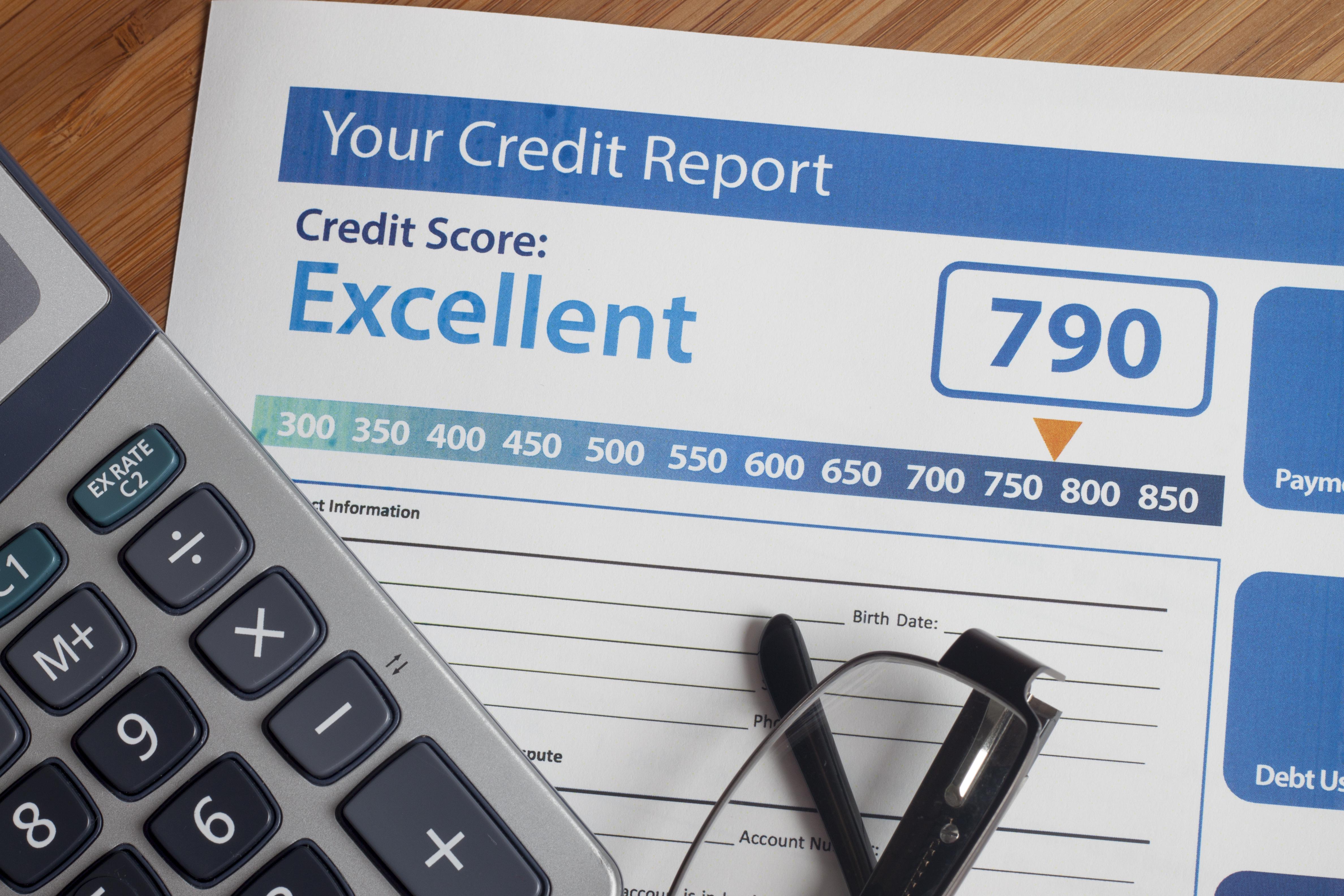Copy of credit report.