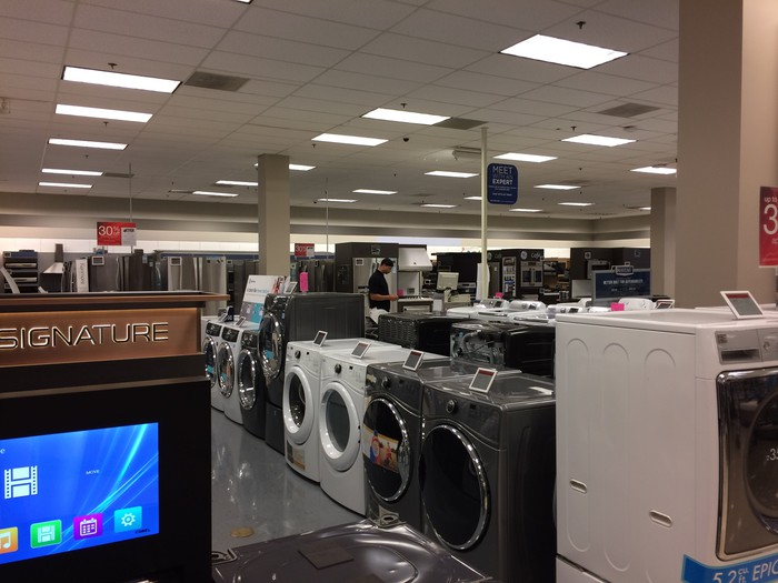 A Sears appliance department