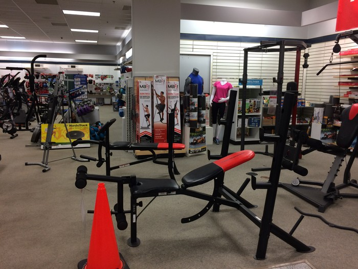 Exercise equipment at Sears