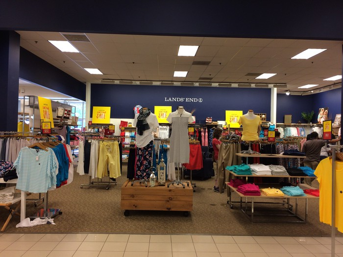 A Lands' End shop at Sears