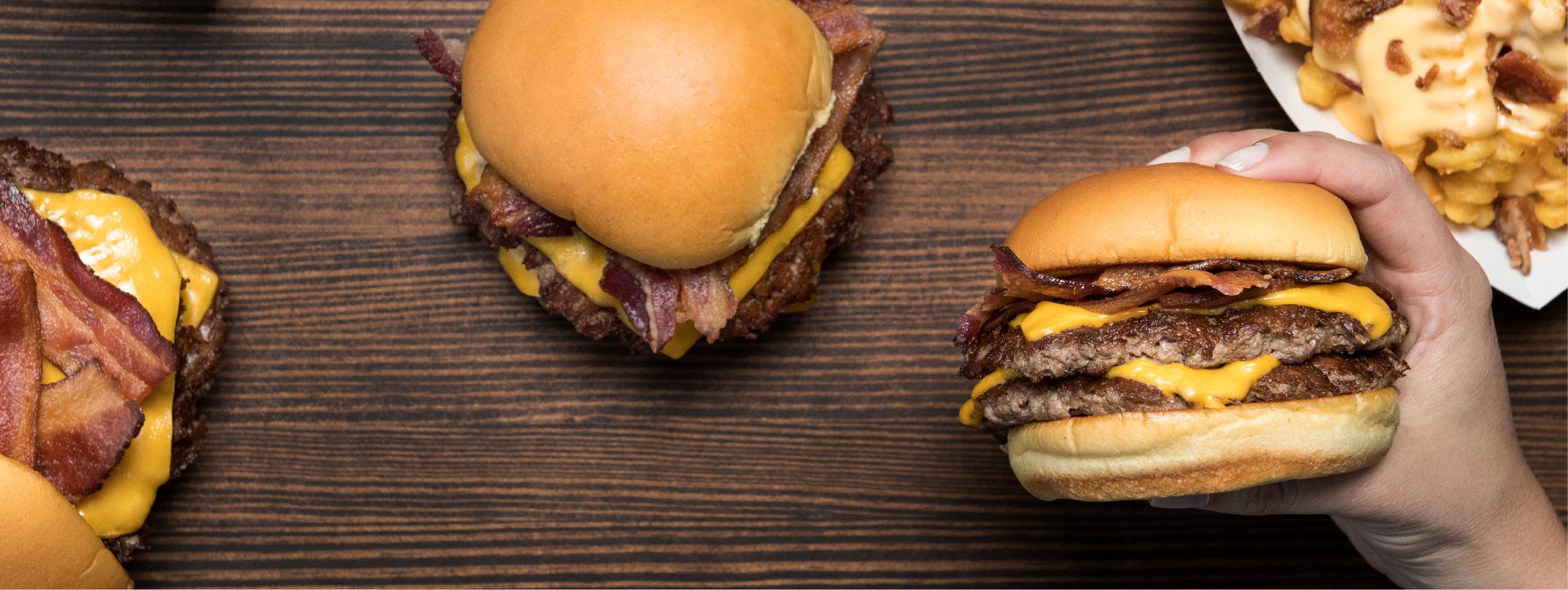 Shake Shack's double bacon cheeseburgers.