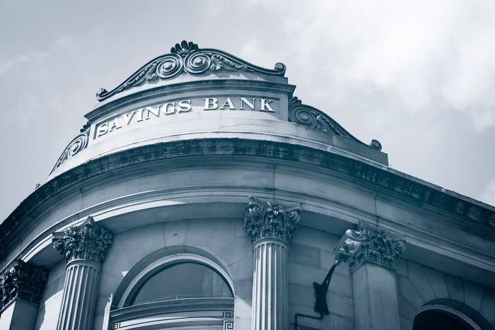 Exterior of a savings bank