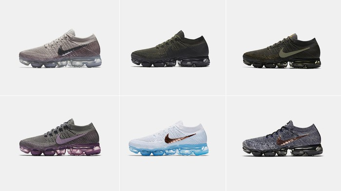 A selection of Nike Air VaporMax shoes