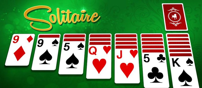 Cards and a logo for Zynga's 'Solitaire' game.
