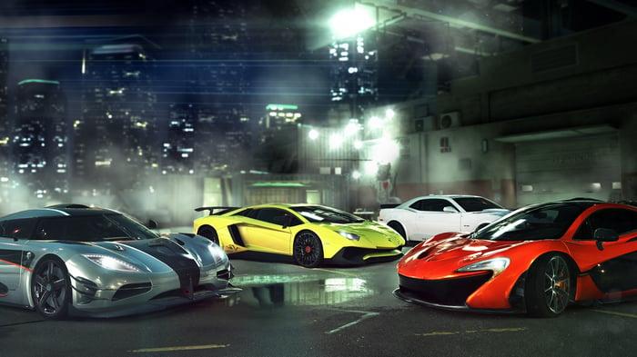 "Cars from Zynga's ""CSR 2""."