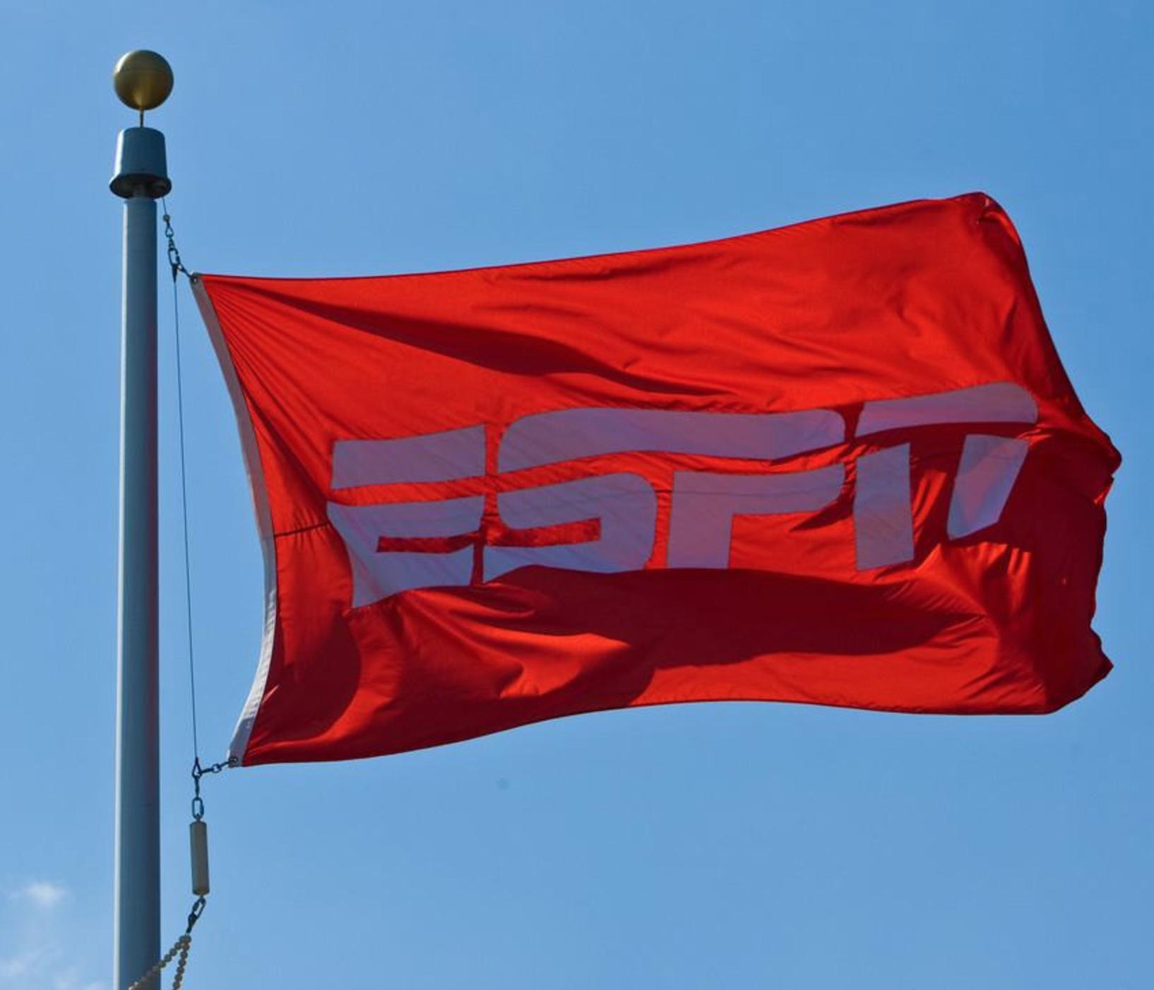 Red flag displaying ESPN logo