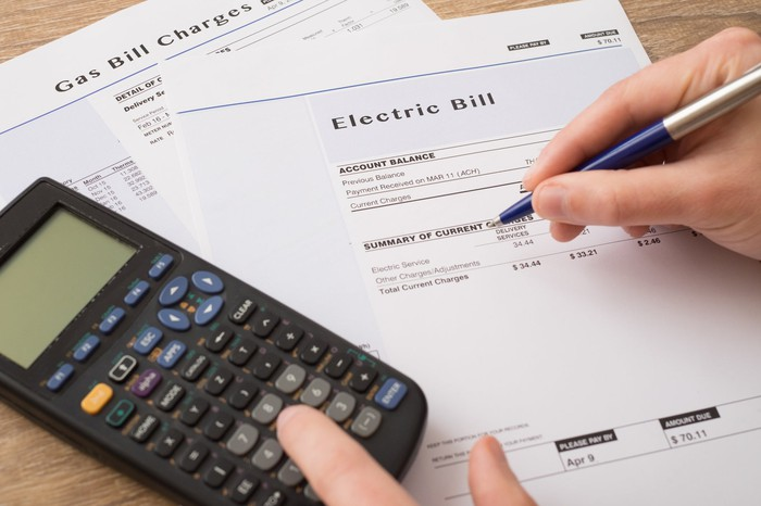 Electric and gas bills