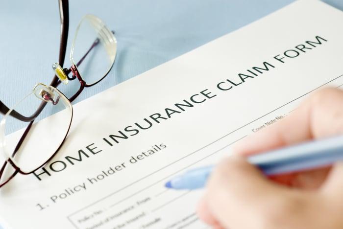 Homeowner's insurance claim form