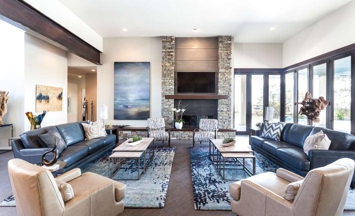 Room filled with La-Z-Boy furniture