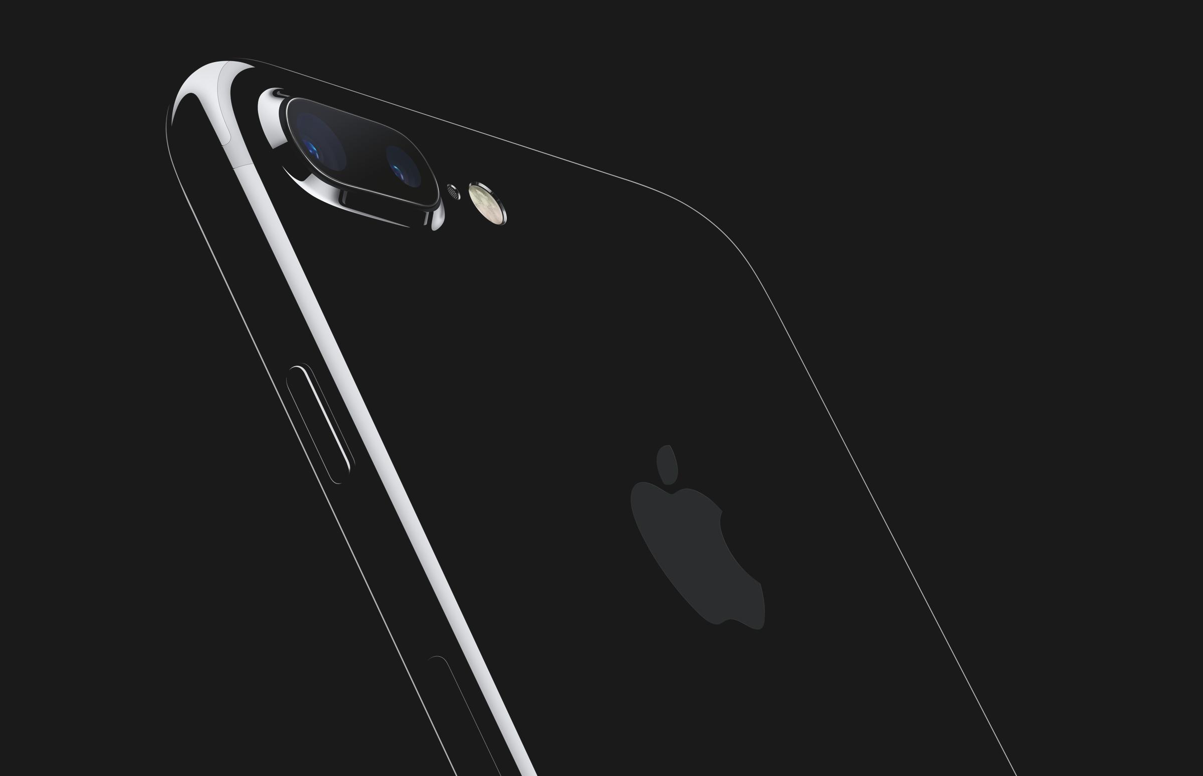 A shot of Apple's jet black iPhone
