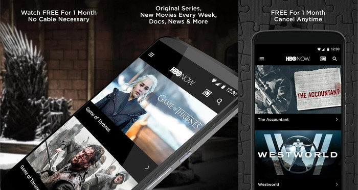 The HBO Now app.